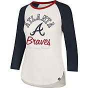 '47 Women's Atlanta Braves Splitter Raglan Three-Quarter Sleeve Shirt
