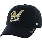 '47 Women's Milwaukee Brewers Sparkle Clean Up Navy Adjustable Hat