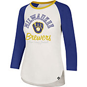 '47 Women's Milwaukee Brewers Splitter Raglan Three-Quarter Sleeve Shirt