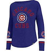 '47 Women's Chicago Cubs Royal Long Sleeve Crew
