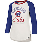 '47 Women's Chicago Cubs Splitter Raglan Three-Quarter Sleeve Shirt