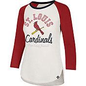 '47 Women's St. Louis Cardinals Splitter Raglan Three-Quarter Sleeve Shirt