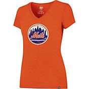 '47 Women's New York Mets Orange V-Neck T-Shirt