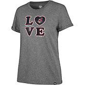'47 Women's Cleveland Indians LOVE Tri-Blend T-Shirt