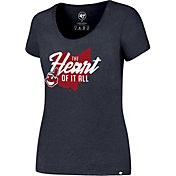"'47 Women's Cleveland Indians ""The Heart Of It All"" Navy T-Shirt"