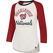 '47 Women's Washington Nationals Splitter Raglan Three-Quarter Sleeve Shirt