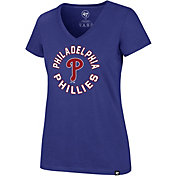 '47 Women's Philadelphia Phillies Ultra Rival V-Neck T-Shirt