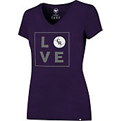 """'47 Women's Colorado Rockies Splitter """"LOVE"""" Purple T-Shirt"""