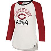 '47 Women's Cincinnati Reds Splitter Raglan Three-Quarter Sleeve Shirt