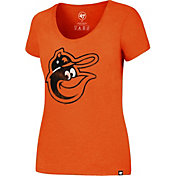 '47 Women's Baltimore Orioles Orange T-Shirt