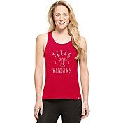 '47 Women's Texas Rangers Red Lumi Tank Top