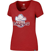 '47 Women's Texas Rangers Red T-Shirt
