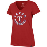 '47 Women's Texas Rangers Ultra Rival V-Neck T-Shirt