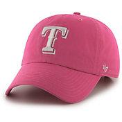 '47 Women's Texas Rangers Clean Up Pink Adjustable Hat