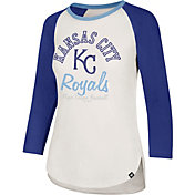 '47 Women's Kansas City Royals Splitter Raglan Three-Quarter Sleeve Shirt