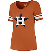 '47 Women's Houston Astros Orange Scoop Neck T-Shirt