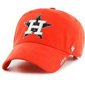 '47 Women's Houston Astros Sparkle Clean Up Orange Adjustable Hat