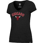 '47 Women's Chicago Bulls Arch Basic Black V-Neck T-Shirt