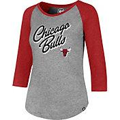 '47 Women's Chicago Bulls Club Grey/Red Three-Quarter Sleeve Shirt