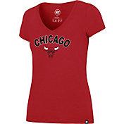 '47 Women's Chicago Bulls Arch Basic Red V-Neck T-Shirt
