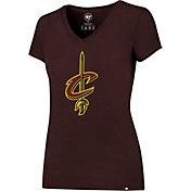'47 Women's Cleveland Cavaliers Basic Logo Burgundy V-Neck T-Shirt