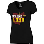 '47 Women's Cleveland Cavaliers Defend The Land Black V-Neck T-Shirt