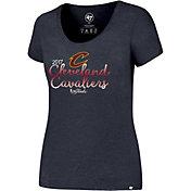 '47 Women's 2017 NBA Finals Cleveland Cavaliers Navy Scoop Neck T-Shirt