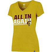 '47 Women's Cleveland Cavaliers All In Again Gold V-Neck T-Shirt