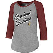 '47 Women's Cleveland Cavaliers Club Grey/Burgundy Three-Quarter Sleeve Shirt