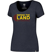'47 Women's Cleveland Cavaliers Defend The Land Navy T-Shirt