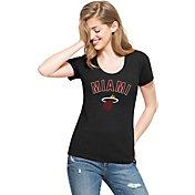 '47 Women's Miami Heat Wordmark Black Scoop Neck T-Shirt