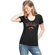 '47 Women's Miami Heat Wordmark Black Scoop Neck T-Shirt