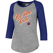 '47 Women's New York Knicks Club Grey/Royal Three-Quarter Sleeve Shirt