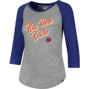'47 Women's New York Knicks Club Grey/Royal Three-Quarter Sleeve Shirt