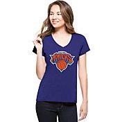 '47 Women's New York Knicks Splitter Logo Royal V-Neck T-Shirt