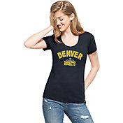 '47 Women's Denver Nuggets Wordmark Navy Scoop Neck T-Shirt