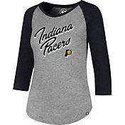 '47 Women's Indiana Pacers Club Grey/Black Three-Quarter Sleeve Shirt