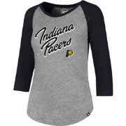 '47 Women's Indiana Pacers Club Grey/Black Three-Quarter Sleeve Shirt
