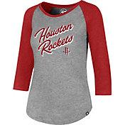 '47 Women's Houston Rockets Club Grey/Red Three-Quarter Sleeve Shirt