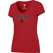 '47 Women's Houston Rockets Arch Basic Red V-Neck T-Shirt