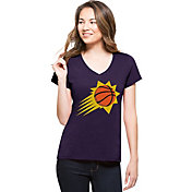 '47 Women's Phoenix Suns Splitter Logo Purple V-Neck T-Shirt