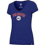 '47 Women's Philadelphia 76ers Arch Basic Royal V-Neck T-Shirt