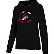 '47 Women's Portland Trail Blazers Black Pullover Hoodie