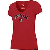 '47 Women's Portland Trail Blazers Arch Basic Red V-Neck T-Shirt