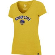 '47 Women's Golden State Warriors Arch Basic Gold V-Neck T-Shirt