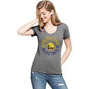 '47 Women's Golden State Warriors Club Grey Scoop Neck T-Shirt