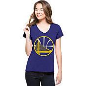 '47 Women's Golden State Warriors Splitter Logo Royal V-Neck T-Shirt