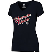 '47 Women's Washington Wizards Splitter Navy V-Neck T-Shirt