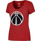 '47 Women's Washington Wizards Wordmark Red Scoop Neck T-Shirt