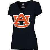 '47 Women's Auburn Tigers Blue Splitter V-Neck T-Shirt